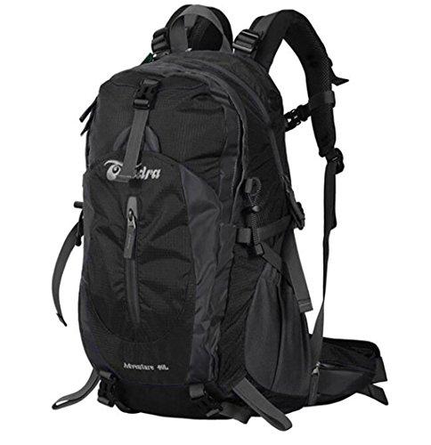 arrampicata all'aperto uomini e donne borsa da viaggio zaino di campeggio con parapioggia 40L 50L Nero