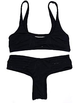 PU&PU Cinturini da spiaggia delle donne Bikini due pezzi Set costume da bagno fasciatura Solid Color Spingere...