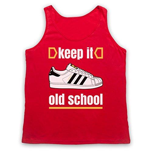 Keep It Old School Retro Superstar Slogan Tank-Top Weste Rot