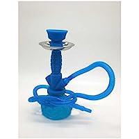 Shisha - Cachimba Pequeña de Silicona (24 cm) - Color: Azul