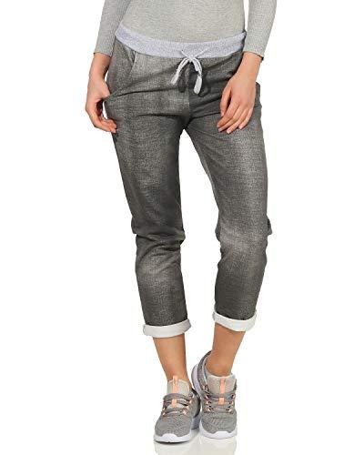 ZARMEXX Damen Sweatpants Freizeithose in verschieden Motiven und Mustern grau One Size (36-40)