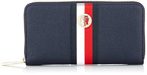 Tommy Hilfiger Damen Th Core Lrg Za Wallet Umhängetasche, Weiß (Corporate), 10.2x17.8x2.5cm -