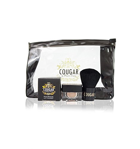 Cougar By Paula Pure Mineral 5 in 1 Foundation & Kabuki Kit In Natural Light