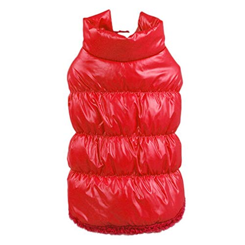 EULSV Winter Hundebekleidung 7 Farbe Pet Padded Weste Mantel Welpen Warm Down Fleece Polyester Hundemäntel Jacken Red XXL