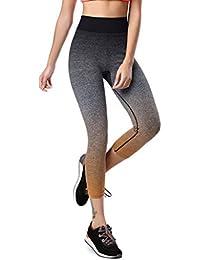 5ad4cfb532d9b2 Jogginghose leggings Hose Sportanzug Sporthose Training Fitnessanzug  yogapants Elastische Dünne Gestreifte Ombre Yoga Leggins…