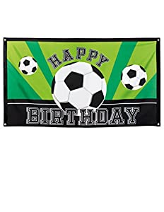 Boland BOL62502 Banner Happy Birthday Foot Party, 90 x 150 cm