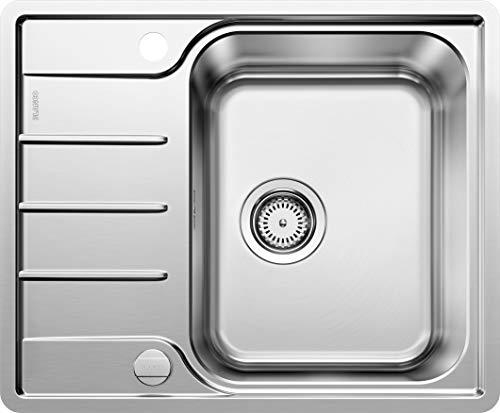 Blanco 525114 LEMIS 45 S-IF Mini Küchenspüle, Edelstahl Bürstfinish, 45 cm Unterschrank