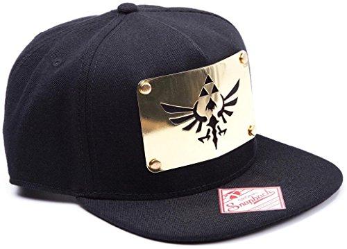 Nintendo Zelda Snap Back Cap Goldene Metal Platte