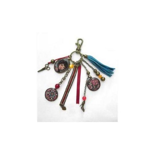 Lili Petrol Bijou de sac porte clef 10 x 2 x 18 cm