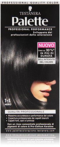 Testanera - Palette, Crema Colorante, 1-1 Nero