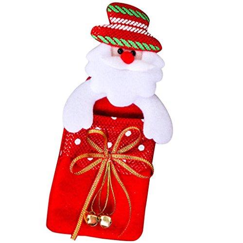 Transer® Weihnachten Tasche / Geschenk-Beutel Reizende Plüsch Schneemann-Dekoration Wiederverwendbare Süßigkeiten Geschenk Beutel Tasche Größe: 17.5cmx39cm (Weihnachtsbaum Kostüme Wenig)