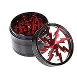 """Tsinggs Grinder Herb Grinder con Premium Alluminio 4 Strati 2.48""""Tabacco Spice Special in Lega di Zinco Magnetico con Pollen Catcher Red"""