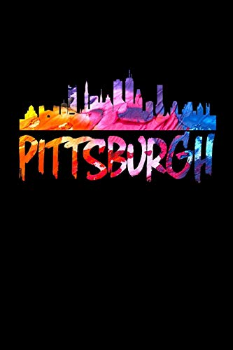 Pittsburgh: Pittsburgh Skyline Vintage Paint Journal (Pittsburgh Gifts for Girls) - Pittsburgh Penguins-flag