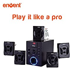 Envent 5.1 Speakers with FM, USB and Bluetooth support, great sound : Deejay 701BT Home Audio