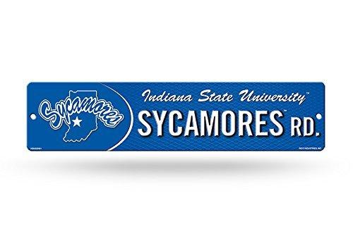 Rico NCAA High-Res Straßenschild aus Kunststoff, blau, 4