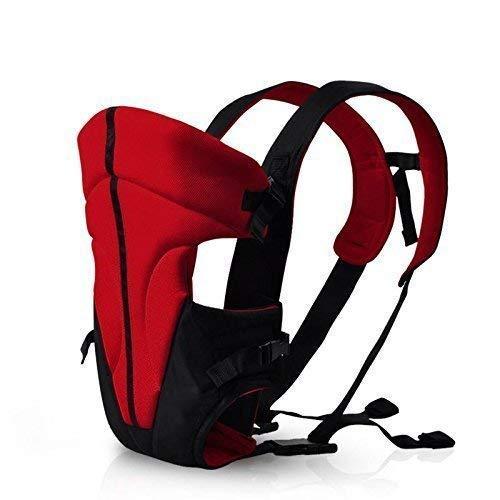Femor wunderbar praktische Babytrage als Bauchtrage, Rückentrage und Hüfttrage in Schwarz WeißRot,bis 15kg, Für 0-24 Monaten Baby (Schwarz + Rot)