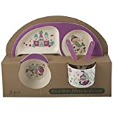 MStick Baby Kids Safe Eco-Friendly Biodegradable Fun Doodle Character Printed Dinnerware Set Of 5 Pieces For Kids