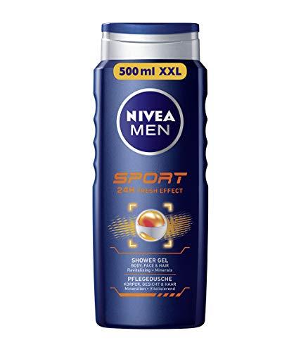 Nivea Men Duschgel für Körper, Gesicht & Haar, Flasche, Sport, 3er Pack(3 x 500 ml)