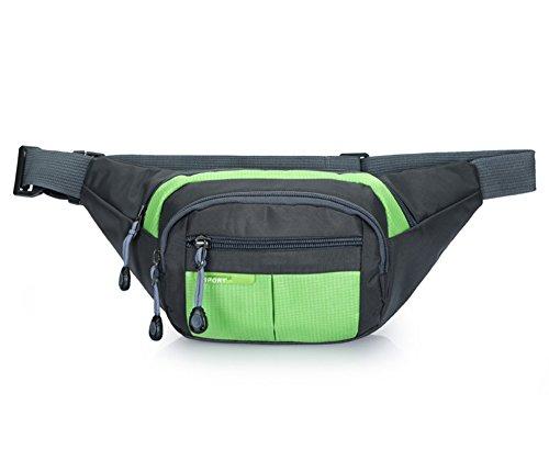 Estwell impermeabile marsupio da viaggio marsupio per sport casual marsupio cintura borsa per escursionismo running Outdoor Bumbag, Uomo, Blue Green