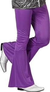 Atosa- Disfraz Pantalon Disco Morado Adulto Acampanado, Color, M (13272)