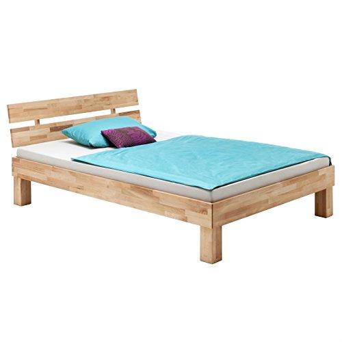 IDIMEX Massivholzbett aus Buche Einzelbett Doppelbett Jugendbett Lara, Verschiedene Größen, geölt