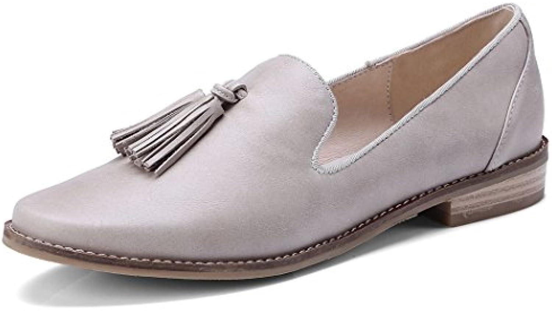 GAOLIXIA Damenschuhe Flache Freizeitschuhe Pumps Runde Kopf Quaste Freizeitschuhe Mode Loafers Arbeit Karriereö