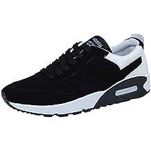 Logobeing Zapatillas Deporte Hombre Aire Libre y Deporte Seguridad la Zapatilla Zapatos de Cojín Transpirables Zapatos