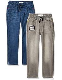 Marca Amazon - Spotted Zebra Paquete de 2 Pantalones Vaqueros Elásticos. - pants Niños