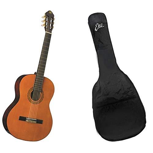 Eko cs-10 natural corpo da 39'' scala 650mm chitarra classica 4/4 con custodia rockbag