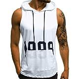 Zolimx Felpe con Cappuccio Uomo,Fitness Uomo Bodybuilding Maglietta da Uomo Estate Manica Corta T-Shirt Top Mimetica Uomo T Shirt Canotta