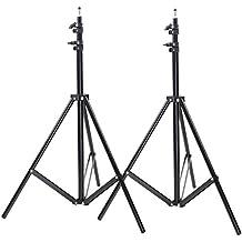 Neewer® Dos Ligeros Trípodes de Aluminio para foto/video Soportes para Estudio Kits de luces, difusores – 6,23 ft/189cm