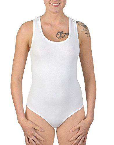 Damen Body mit breiten Trägern Weiß