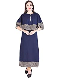 Bright Cotton Long Kurtis For Women Top Kurtas Burkha BCOWN-053-V
