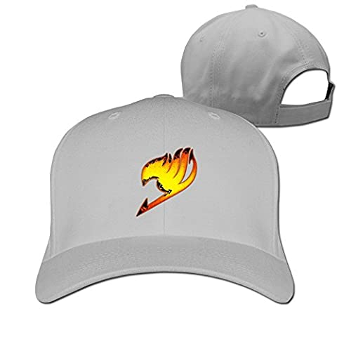 Feruch ZULA Particular Unisex Farily Flame Logo Tail Baseball Visor Cap White Ash