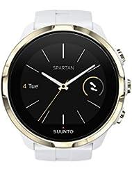 Suunto, Spartan Sport Wrist HR Gold, Unisex GPS-Uhr für Multisport-Athleten, 12 Std. Akkulaufzeit, Wasserdicht bis 100 m, Herzfrequenzmesser, Farb-Touchscreen, Weiß/Vergoldet, SS023405000