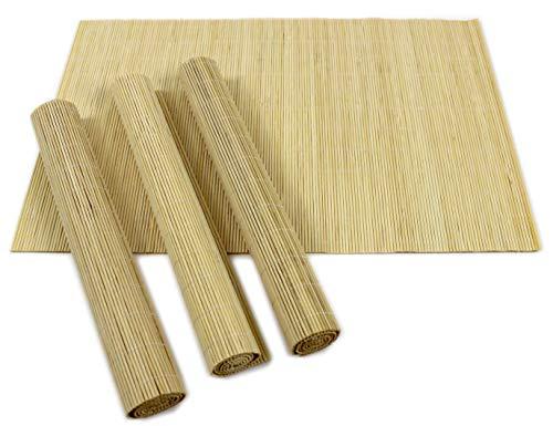 Set von 4x/L Bambus Tischsets Oriental Fusion Home Esstisch braun