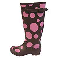Ladies Girls Wetlands BUBBLES Wellies L036 Brown UK5