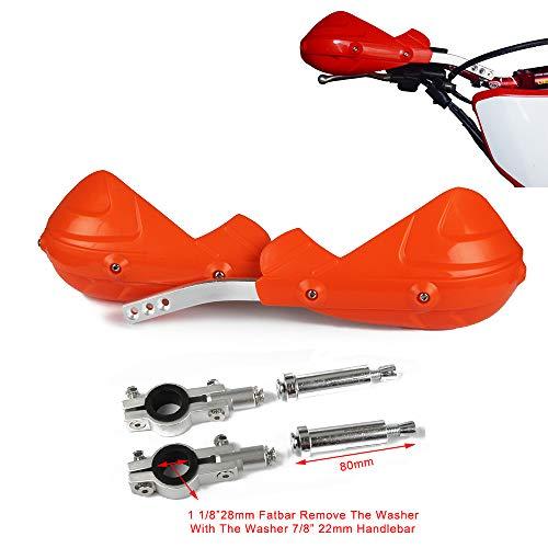Orange Motorrad Universal Hand Brush Guards Protector Handprotektoren, Aluminium für Motocross Pit Dirt Bike EXC EXCF SX SXF SXS MXC MX XC XCW XCF XCFW EGS LC4 Enduro (Hand Dirt Guards Bike)