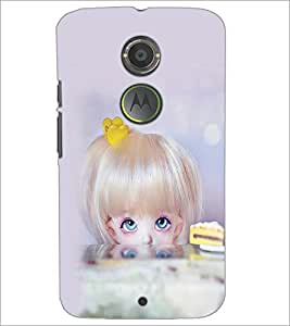 PrintDhaba Beautiful Doll D-1070 Back Case Cover for MOTOROLA MOTO X2 (Multi-Coloured)