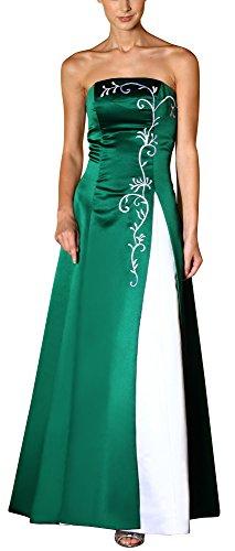 Romantic-Fashion Damen Ballkleid Abendkleid Brautkleid Lang Modell E557 Zweifarbig Stickerei DE...