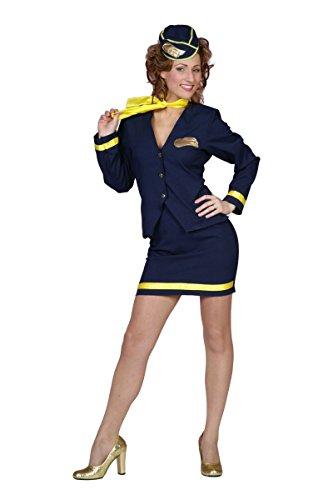 Damen Kostüm Flugbegleiterin Stewardess Karneval Fasching Gr.38