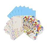 12pcst Partito Di Tema Di Carta Biglietti D'invito For I Bambini Di Compleanno Decoro Feste Doccia (6 Carte + 6 Avvolge)
