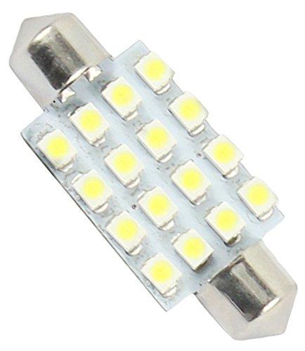 DaoRier 16 LED SMD 1210 Haube Weiß Super Helle Lampe Licht 12V Auto Innenbeleuchtung Panel Kfz Kennzeichen Licht Weiss 1 Stück