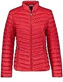 Gerry Weber Damen Outdoorjacke Nicht Wolle Steppjacke mit Daunenfeeling Ribbon Red 46 Sportive Qualität, fein schimmernd unifarben figurumspielend Stehkragen