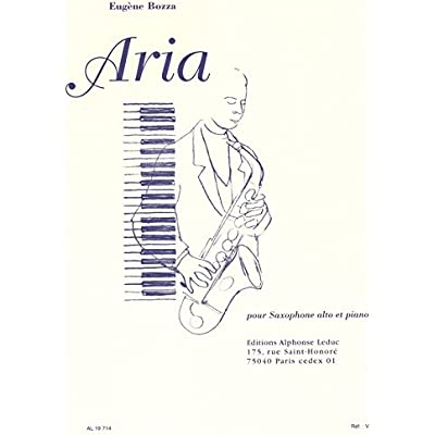 Moderne Weihnachtsgedichte.Eugene Bozza Aria Alto Saxophone Piano Fur Alt Saxophon
