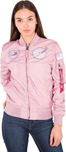 Alpha Industries Damen Jacke MA-1 TT NASA Reversible Wmn, Größe:S, Farbe:Silver Pink