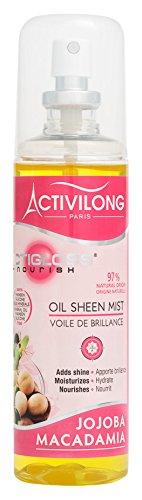 Activilong Actigloss Nourish Oil Sheen Mist Voile de Brillance Macadamia/Jojoba 125 ml