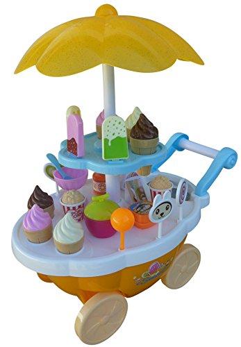 Für Geburtstag-geschenk-körbe Mädchen (Spielzeug Süßigkeiten-Servierwagen, A186, 30 tlg. Set mit Sound und Lichteffekten für Kinder, mit viel Zubehör, Geschenk-idee für Jungen und Mädchen für Weihnachten und zum Geburtstag, Geburtstags-Geschenk)