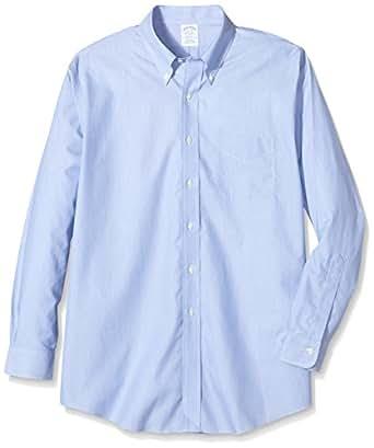 Brooks Brothers Dress Non-Iron Botton Down Regent, Camicia da Uomo, Dark Blue 99, 41 (Collo in. 16 Manica in. 34)