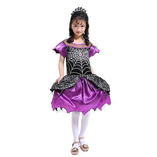 friendGG❤️❤️Mädchenrock Kind Ärmellos Halloween Performance-Kleidung Spinne Cosplay Kleidung Rock + Stirnband